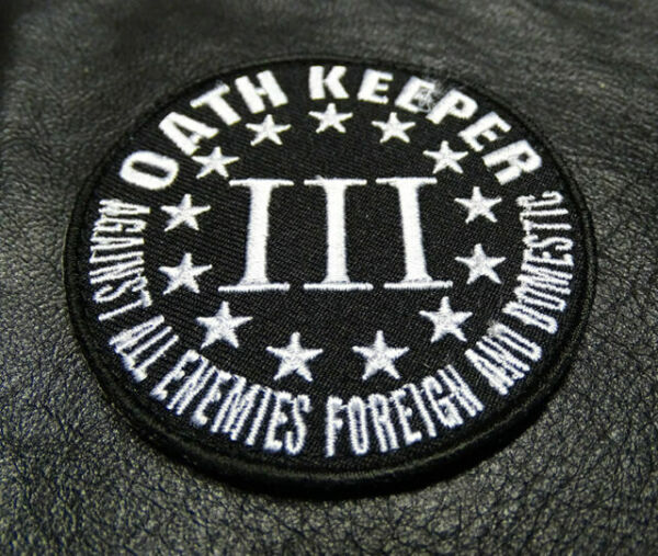 OATHKEEPER 3 PERCENTER USA ARMY 3/% TACTICAL MORALE BADGE SWAT OPS HOOK PATCH