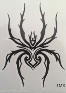 GOTHIK-SPIDER-TATTOO-Temporary-High-Quality-60mm-x-60mm-Lasts-for-Days