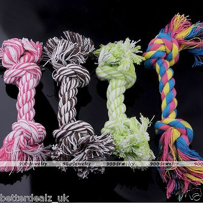 1/2/3/5/10pcs Pet Dog Puppy Cotton Chew Knot Playing Toy Braided Tug Rope Bone