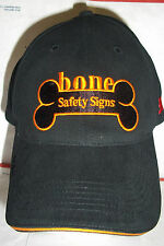 Bone Safety Signs Black Cap with 3M Logo www.Bonesafety.com  Hat