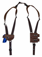 Brown Leather Shoulder Holster W/dbl Mag Pouch Llama, Na Arms Mini-pocket 22