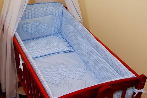 Pillow Duvet Cover Cradle 100/% COTTON 6 pcs CRIB bedding Set //All round bumper