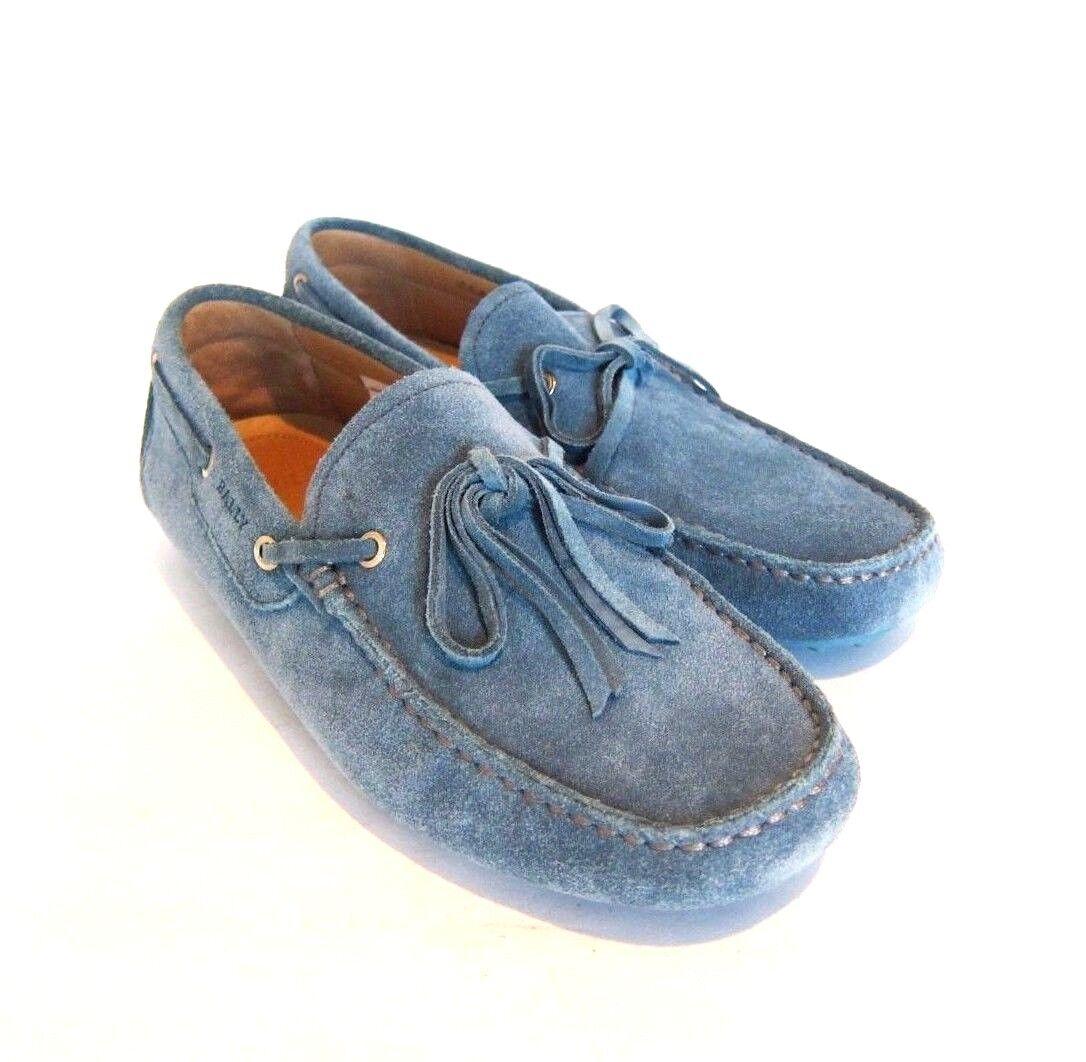 S-1613975 Nuevo Bally Dramer 252 Laguna ante Azul Azul Azul Conducción Zapato Sz Us 9D 121e4c