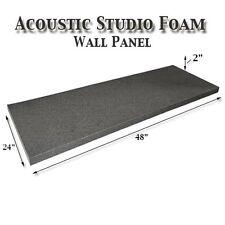 """Acoustic Foam Flat Panel Studio Soundproofing Foam Wall Panel 48"""" X 24"""" X 2"""""""