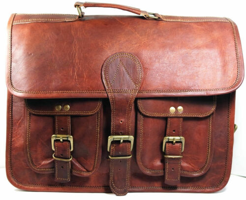 Genuine Soft Leather Shopping Travel Cross body Hand Bag made in India Foe Men