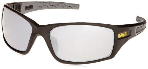 Dewalt Auger Silver Mirror Safety Glasses Matte//Black Sunglasses Z87+