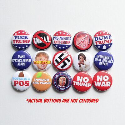 6 x Donald Trump 32mm BUTTON PIN BADGES President MAGA America USA Trump POTUS