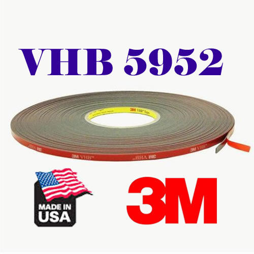 3M 8mm x 108/'Ft//33M VHB 5952 Double Sided Foam Adhesive Tape Automotive Mounting