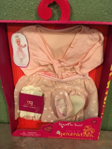 """Generation Dressed to Twirl 18/"""" inch doll Outfit Leotard Skirt shoes /& More NEW"""