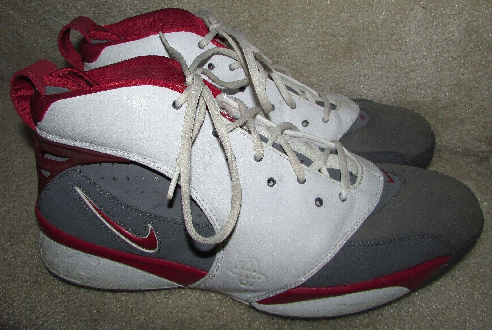 Nike air retr retr retr huarache 64 bianco - rosso grigio scarpe da basket 313386-012 numero 13 3baf46