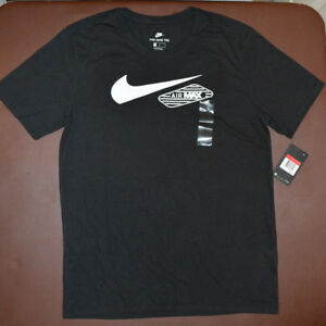 Details about Nike Men's Air Max 90 Retro Swoosh T Shirt Black 834626 010