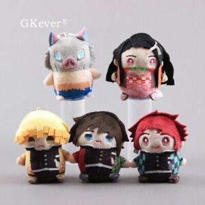 Demon-Slayer-Kimetsu-no-Yaiba-Plush-Doll-Stuffed-Toy-Cute-Keychain-Pendant