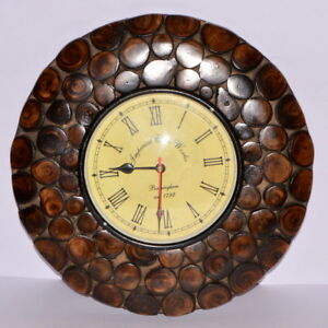 Image Is Loading Antique Design Wooden 12 Inche Wall Clock For