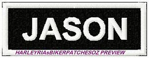 CUSTOM-MADE-TO-ORDER-1-or-2-WORD-BIKER-PATCH-with-BLACK-BACK-GROUND