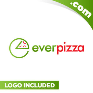 EverPizza-com-is-a-cool-brandable-domain-for-sale-Godaddy-Food-Industry-Logo