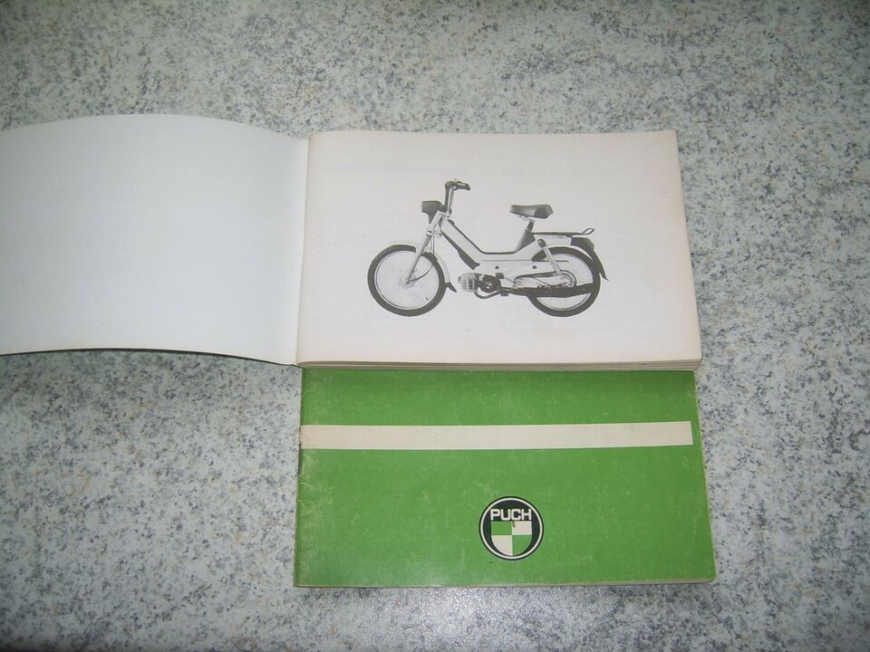 Puch puch 3 gear, maxi m.v. - instruktionsbøger, 1973