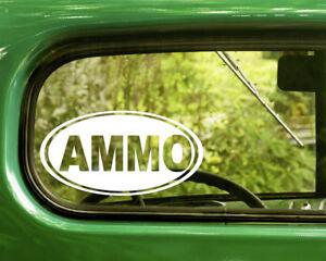 2-AMMO-AMMUNITION-OVAL-DECALs-Sticker-Die-Cut-For-Car-Window-Bumper-RV