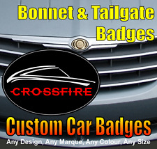 Chrysler Crossfire Grille and Tailgate Badges (black/chrome/red)