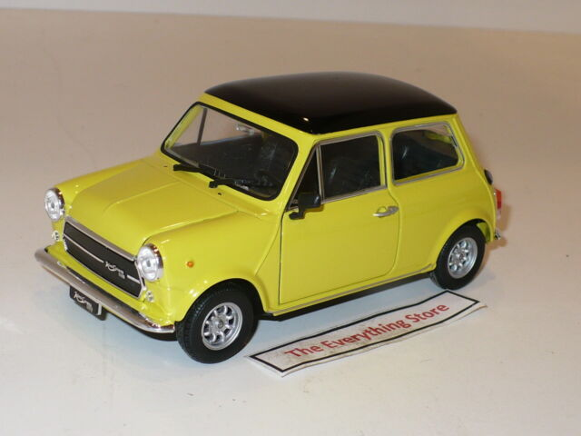Welly Vintage Mini Cooper 1800 Yellow Black 5 Inches No Box 22496 Free Ship