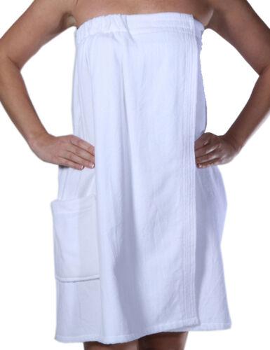 Shower Spa Wraps for Ladies with Pocket Terry Cotton Women Bath Wrap