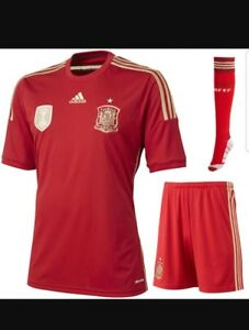 on sale ed650 5f019 Details about Adidas 2014 World Cup Spain National Team home Kit fan set -  LIMITED! SIZE-Large