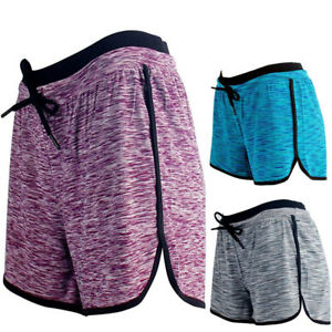 Women-Summer-Mini-Fitness-Running-Shorts-Elastic-Waistband-Sport-Shorts-Pants