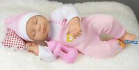 14 Born Sleeping Baby Doll With Sounds Pillow & Feeding Bottle Gift Toy