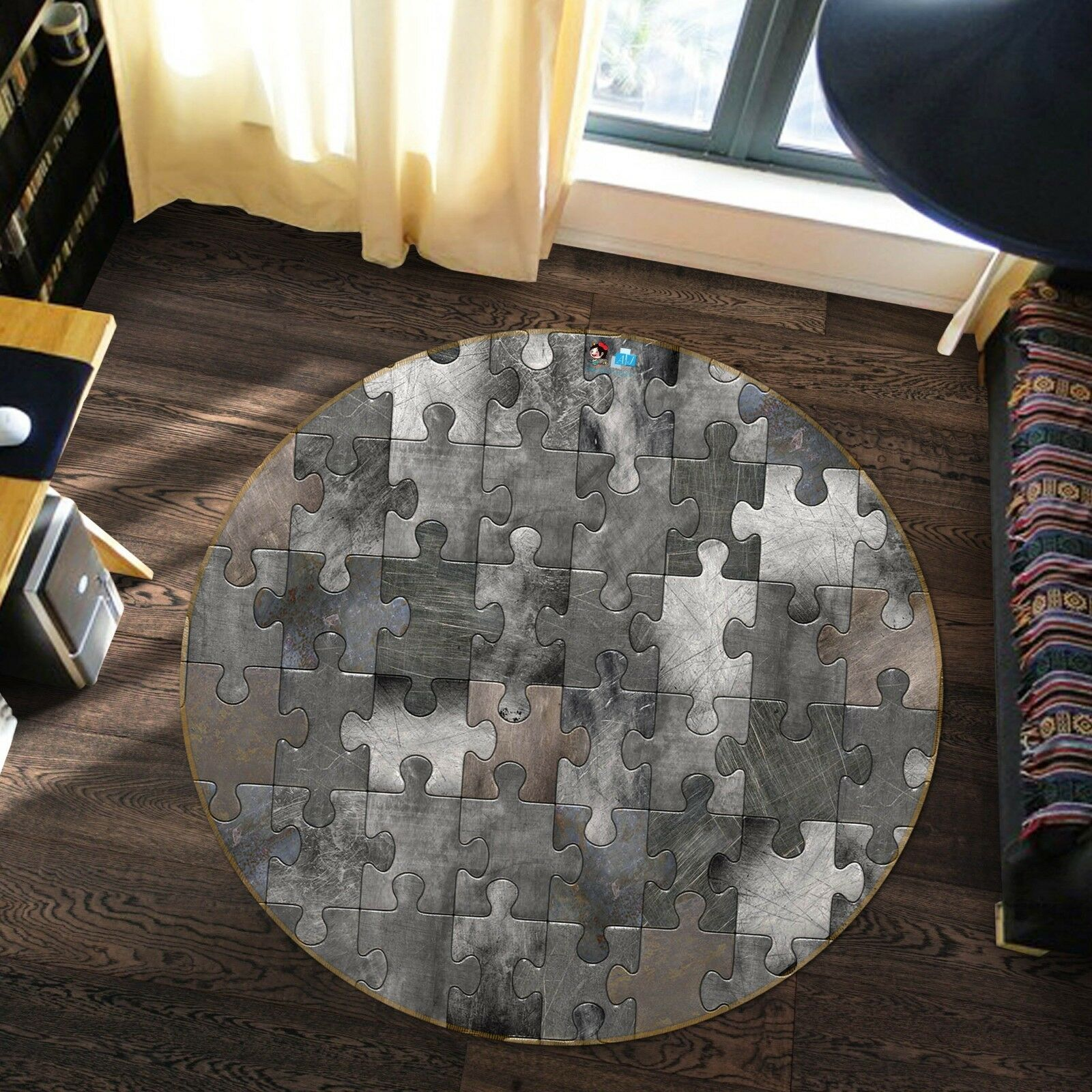 3D Puzzle Grigio Retrò 1 tappetino antiscivolo tappeto camera tappetino tappeto rossoondo elegante foto Regno Unito