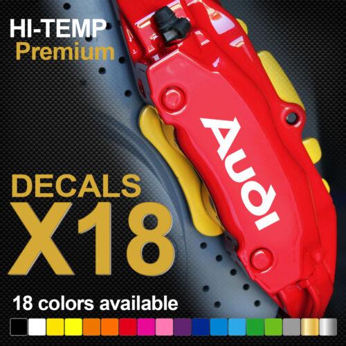 Compatible AUDI Logo HI-TEMP PREMIUM BRAKE CALIPER DECALS STICKERS CAST VINYL