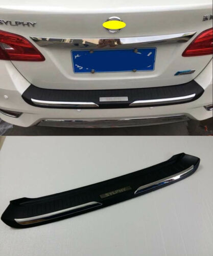 Rear Bumper Protector Cover Trim for 2016 Nissan Sentra Sylphy Black Plastic
