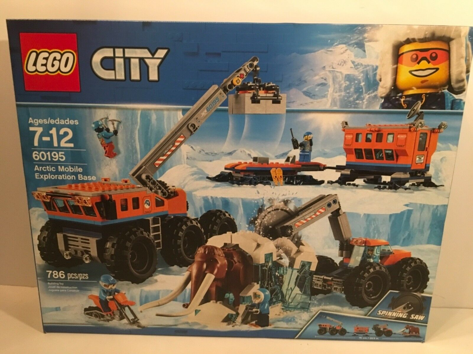 LEGO City 60195 Arctic Mobile Exploration Base Nuovo Sealed
