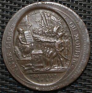 MONNERON-5-SOLS-AU-SERMENT-1792-L-039-AN-IV-FAUTE-FRAPPE-DECENTRE