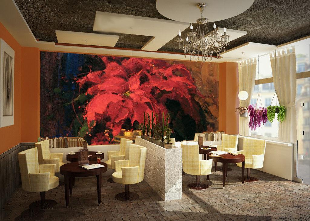 3D Blühendes Blühendes Blühendes Rot Blaumen 84 Tapete Wandgemälde Tapete Tapeten Bild Familie DE | Starke Hitze- und Abnutzungsbeständigkeit  | Neue Sorten werden eingeführt  |  94bdf7