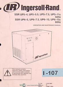 ingersoll rand ssr series air compressor tri lignual operations rh ebay com Ingersoll Rand Air Compressor Parts Breakdown T20 Ingersoll Rand Compressor Parts Catalog