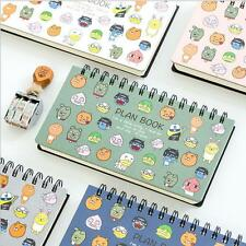 """Plan Book"" 1pc Cute Planner Notebook Coil Diary Planning Lined Free Note Papers"