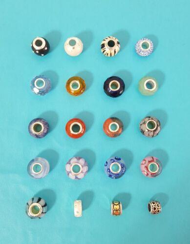 Sterling Silver Individuality Beads Charm Khols European Bracelet You Choose 925
