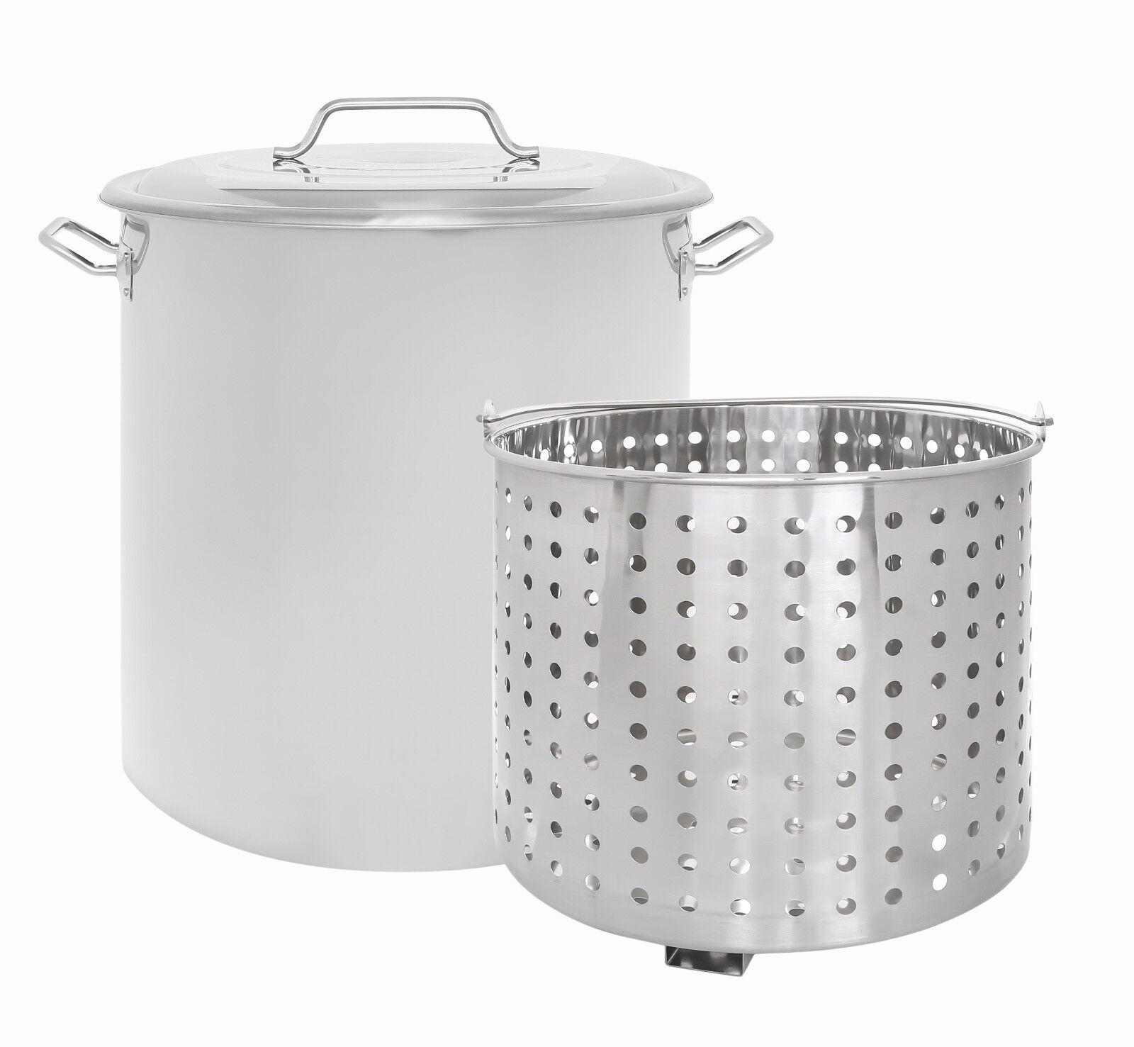 CONCORD Faitout en acier inoxydable avec panier vapeur bouillante Vaporisage Cookware
