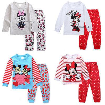 Kids Baby Girl Children T-shirt Top+Pants Pajamas Set Sleepwear Outfit Clothing