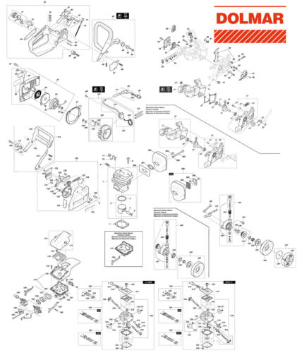 Ersatzteile für DOLMAR PS-52 Benzin-Motorsäge