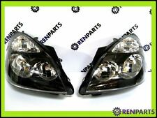 Renault Clio II PH2 2001-2004 Pair NEW Headlamps Headlights Black Surround
