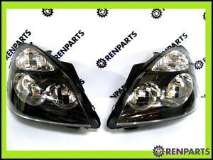 Renault-Clio-II-PH2-2001-2004-par-nuevo-Faros-Faros-Negro-Envolvente