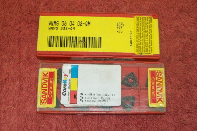 Sandvik WNMG 06 04 08-QM 4235 Carbide Inserts WNMG 332-QM 4235   10pcs