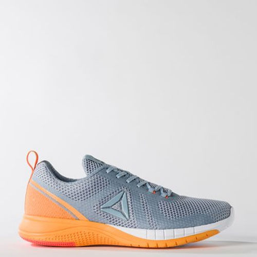 Donna Reebok Print Run BD4545 Scarpe grigie scarpe bianche arancioni   qualità autentica