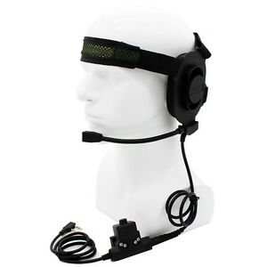 CS-HD01-Z-Tactical-Headset-Earpiece-U94-Style-PTT-BaoFeng-UV-5R-Kenwood-Radios