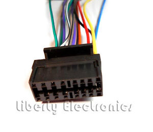 new 16 pin auto stereo wire harness for sony cdx gt56ui cdx rh ebay com sony cdx-gt565up wiring harness diagram sony cdx-gt10w wiring harness