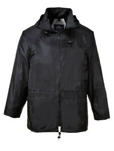 Portwest-US440BKR5XL-Classic-Rain-Jacket-Black-5X-Large