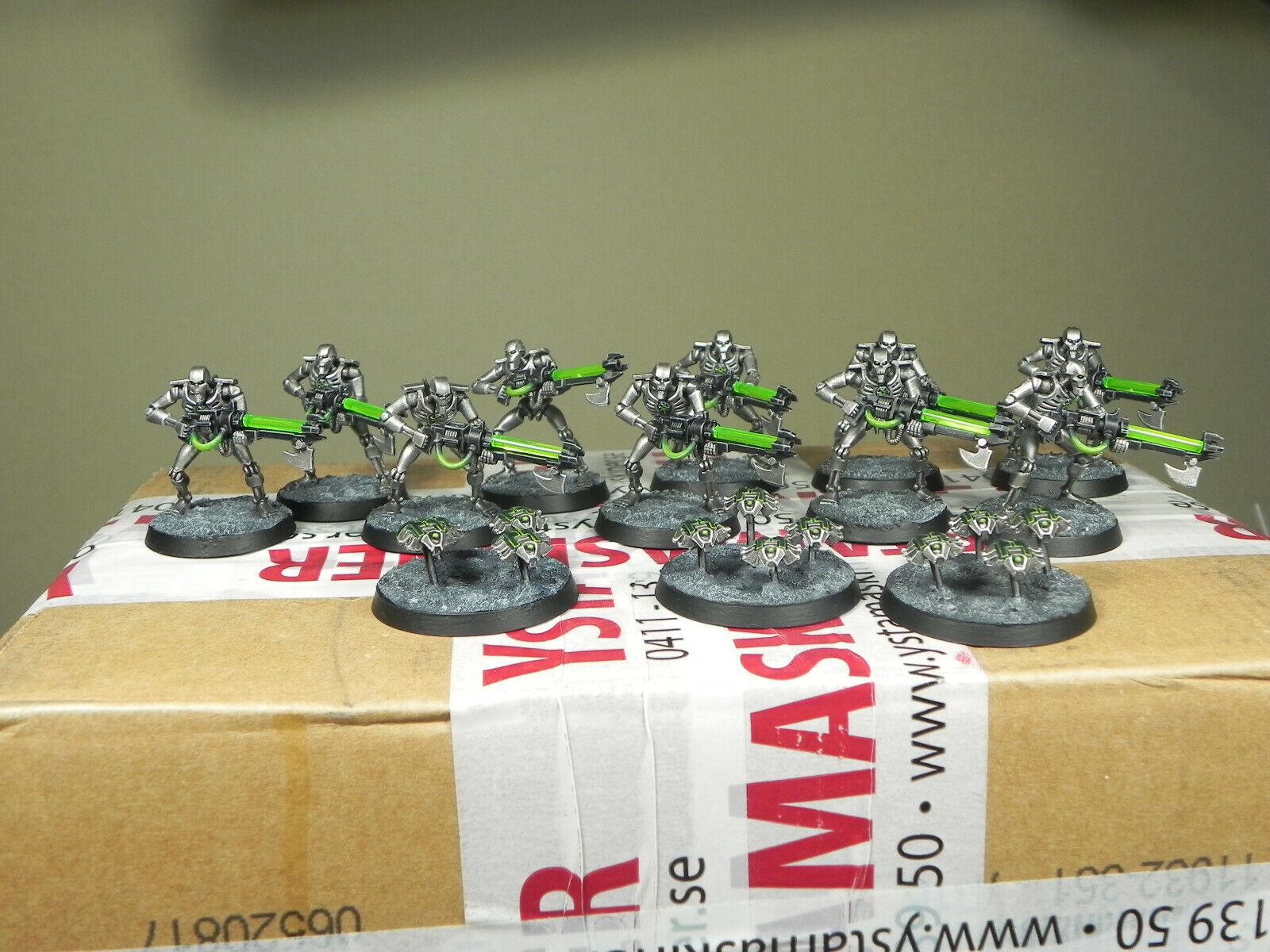 Warhammer 40000 Necron Warriors et svoitureabées  Squad Pro Painted  produit de qualité d'approvisionnement