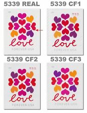 5339 CF1 CF2 CF3 Postal Counterfeit Love Hearts Blossom Set of 4 MNH - Buy Now