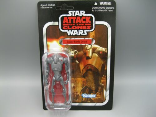 2010 Star Wars Attack of The Clones Super Battle Droid Figure VC37 NIB Unpunched