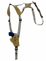 Barsony Natural Tan Leather Vertical Shoulder Holster Charter Arms 2 Snub
